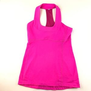 Lululemon Womens Size 6 Hot Pink T Back Tank EUC